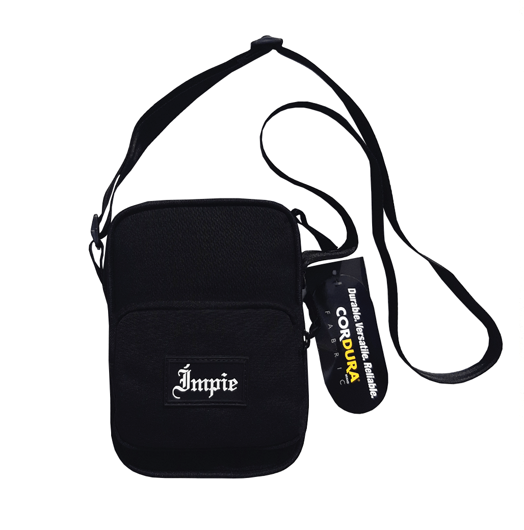 Shoulderbag Impie Traditional Patch CORDURA® Preta
